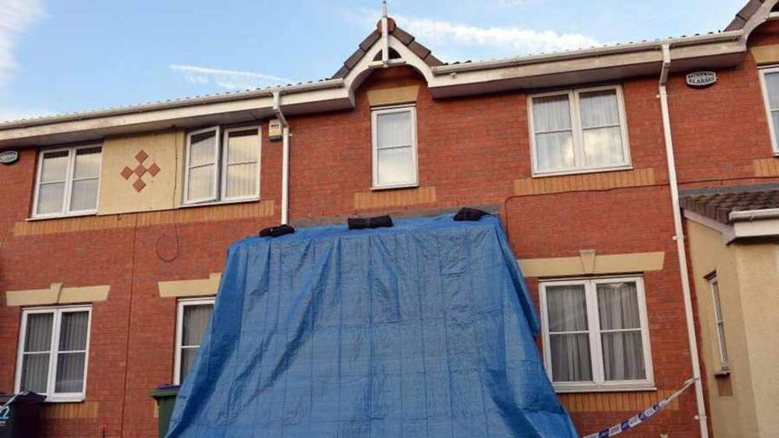 House where woman was doused in cleaning fluid in Tividale, Tipton (CREDIT: Express & Star)