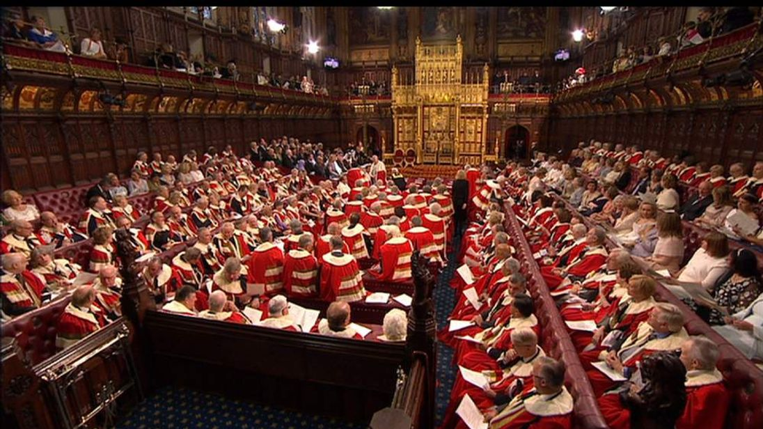 The House of Lords ahead of the State Opening of Parliament 2014