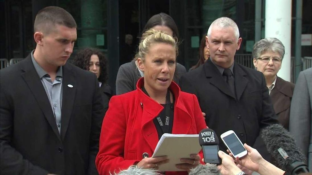 A statement is read on behalf of Nicola Hughes' family.