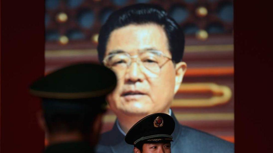 Hu Jintao poster