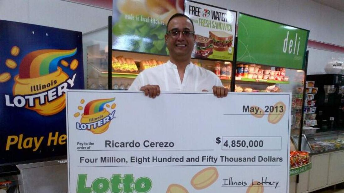 Illinois Lottery winner Ricardo Cerezo