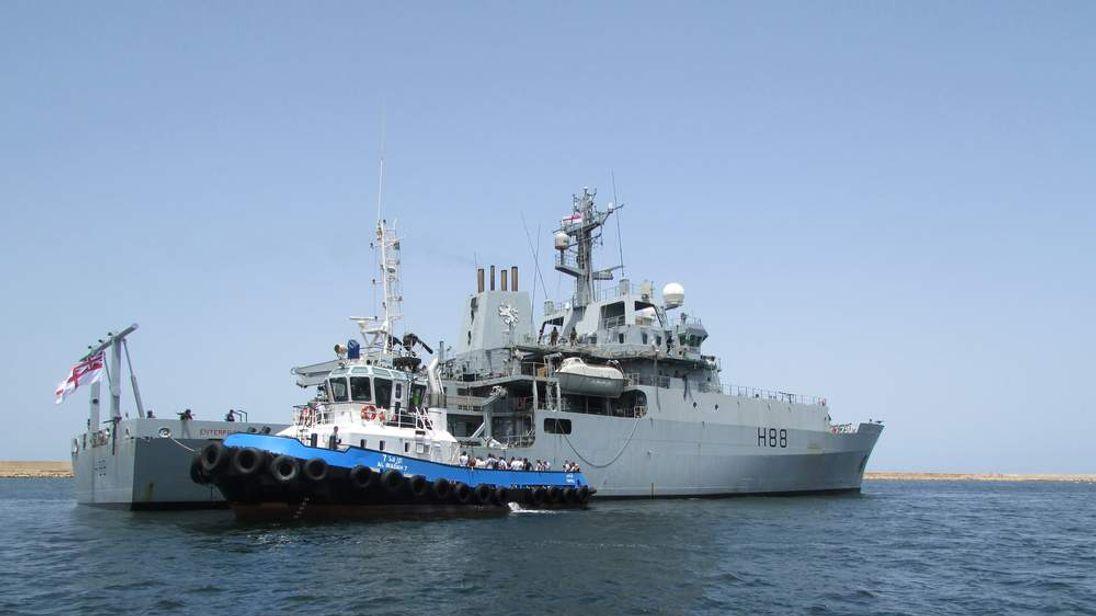 Britons taken on to HMS Enterprise in Libya
