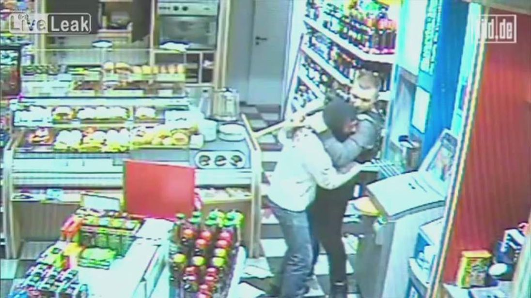Oldenburg Germany robbery CCTV