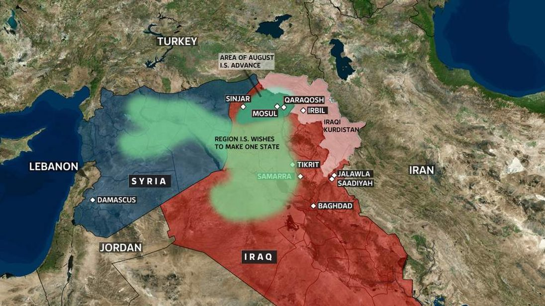 IS gains in northern Iraq