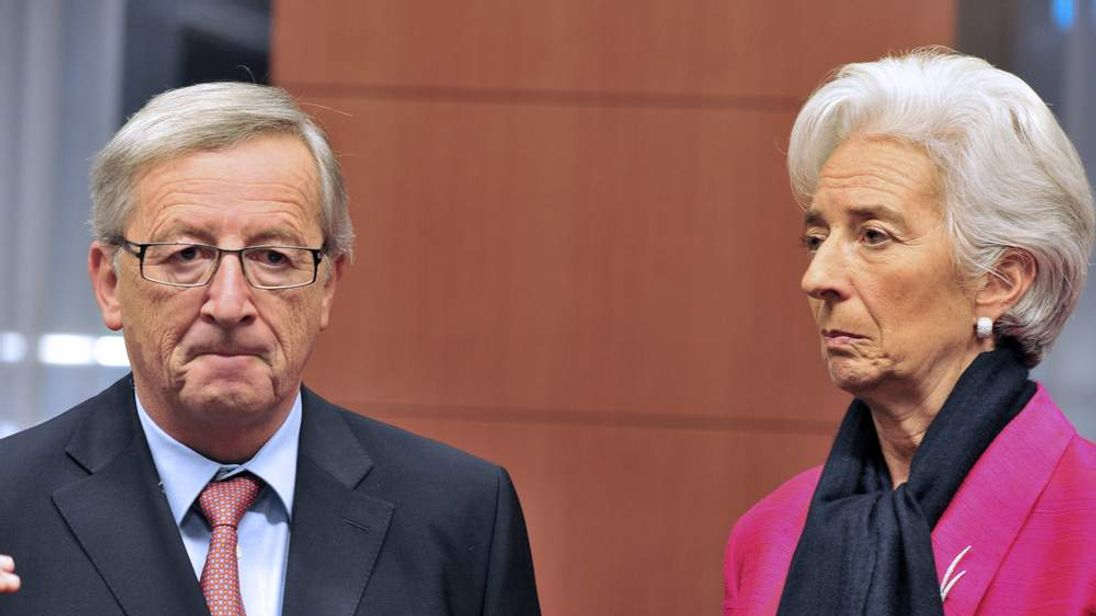 Jean-Claude Juncker and Christine Lagarde