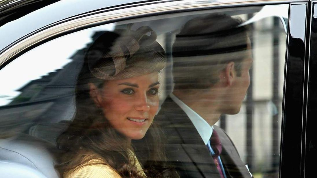 The royal couple leave after lunch in Edinburgh when the Duke was installed into the Order of the Thistle