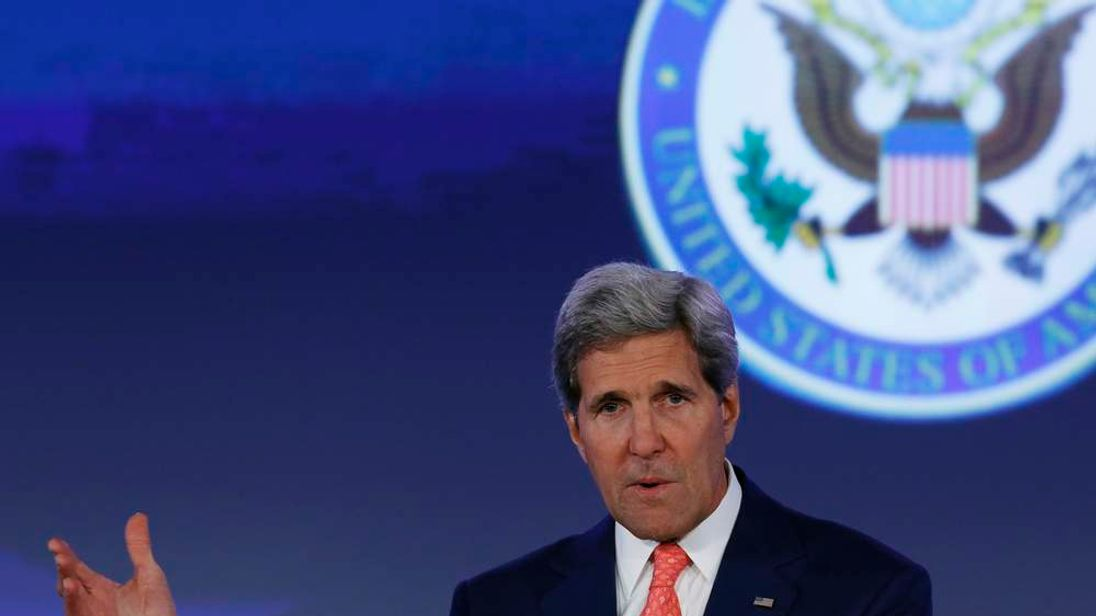 "U.S. Secretary of State Kerry delivers opening remarks at the ""Our Ocean"" conference at the State Department in Washington"