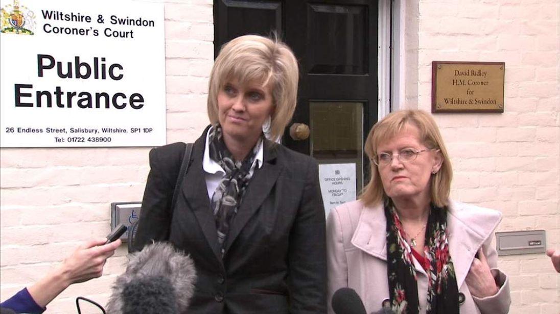 Anne-Marie Ellement's sister Kristina Swain speaks as inquest is adjourned