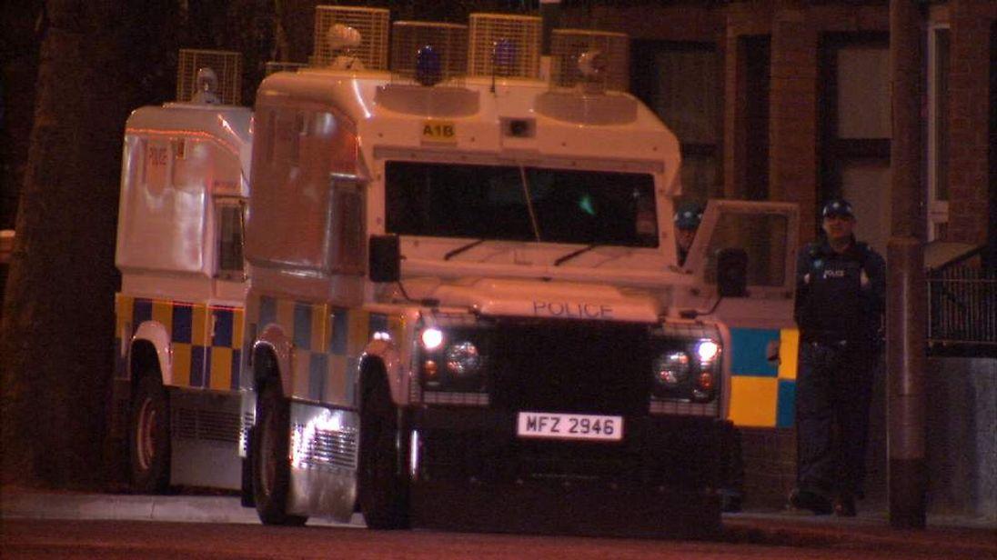 Police at scene of bomb attack