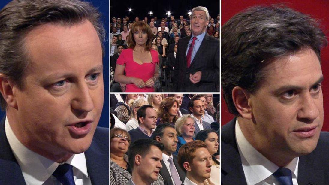 Cameron & Miliband Battle For Number 10