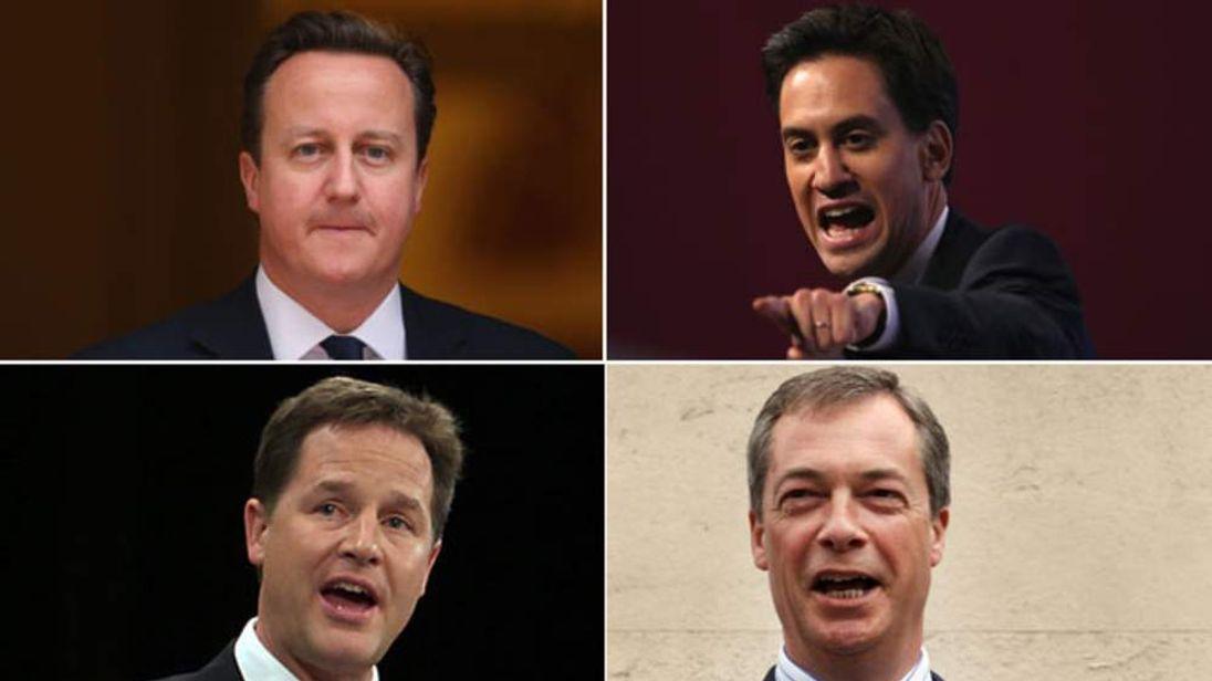 Political leaders split