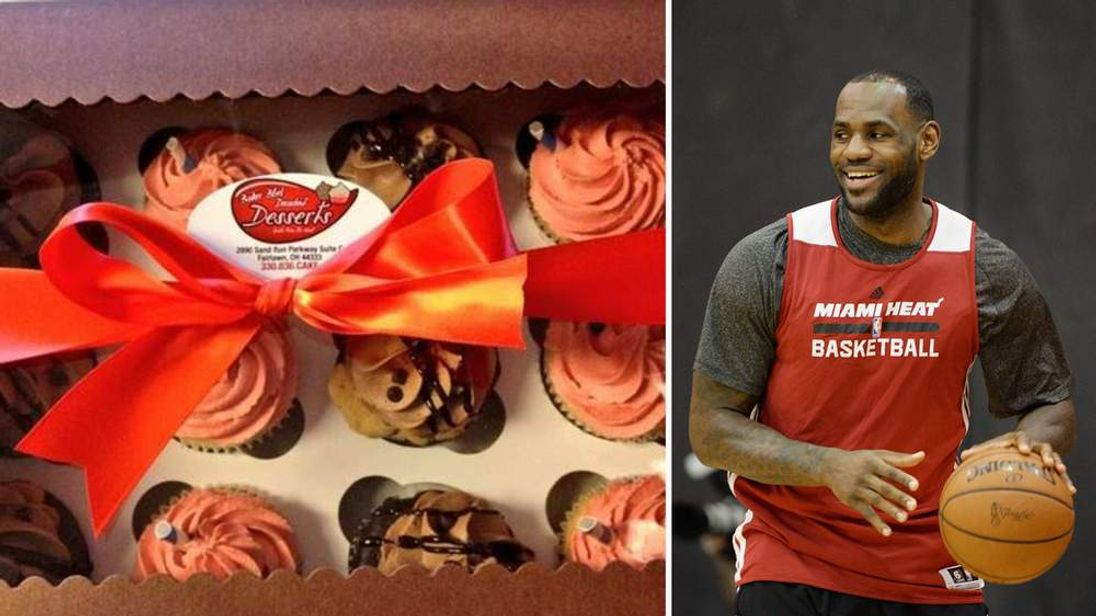 LeBron James sends cupcakes to neighbours