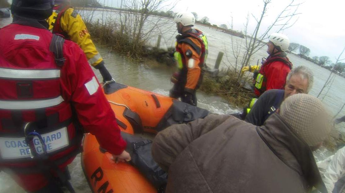 People rescued from flooded farm in Llanbedr near Barmouth, North Wales