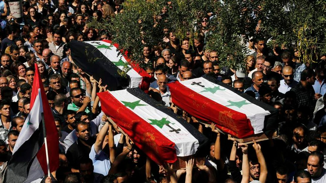 SYRIA-CONFLICT-FUNERAL-CHRISTIANS