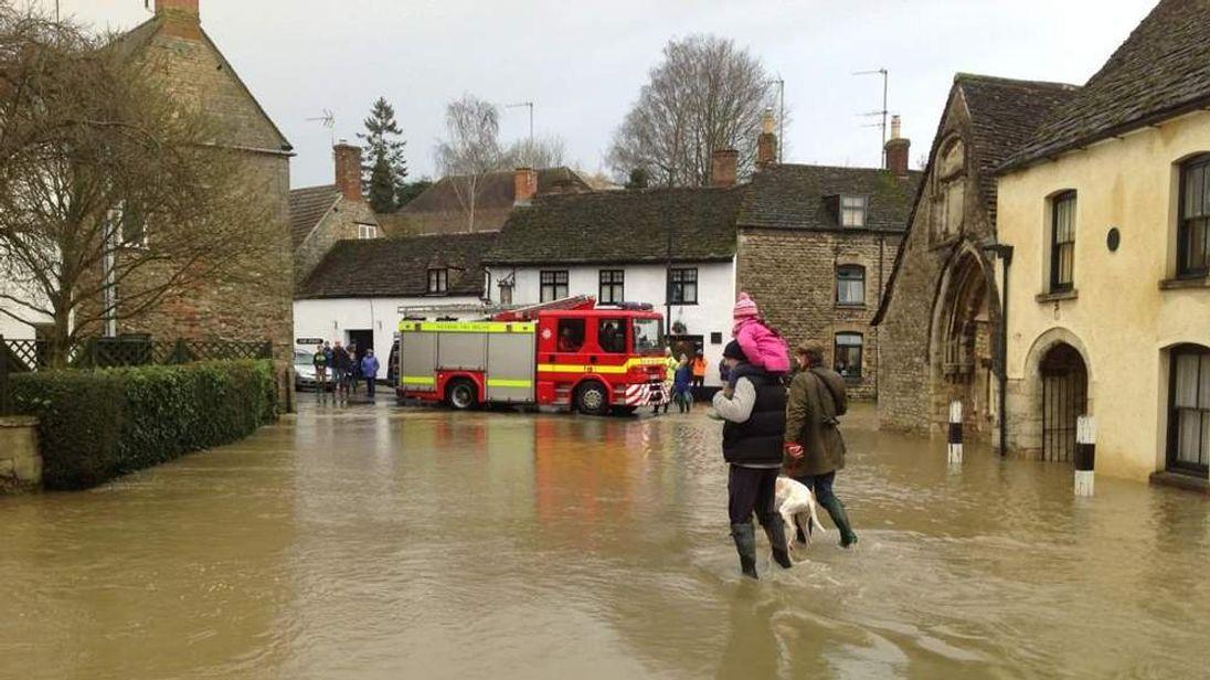 Flooding in Malmesbury