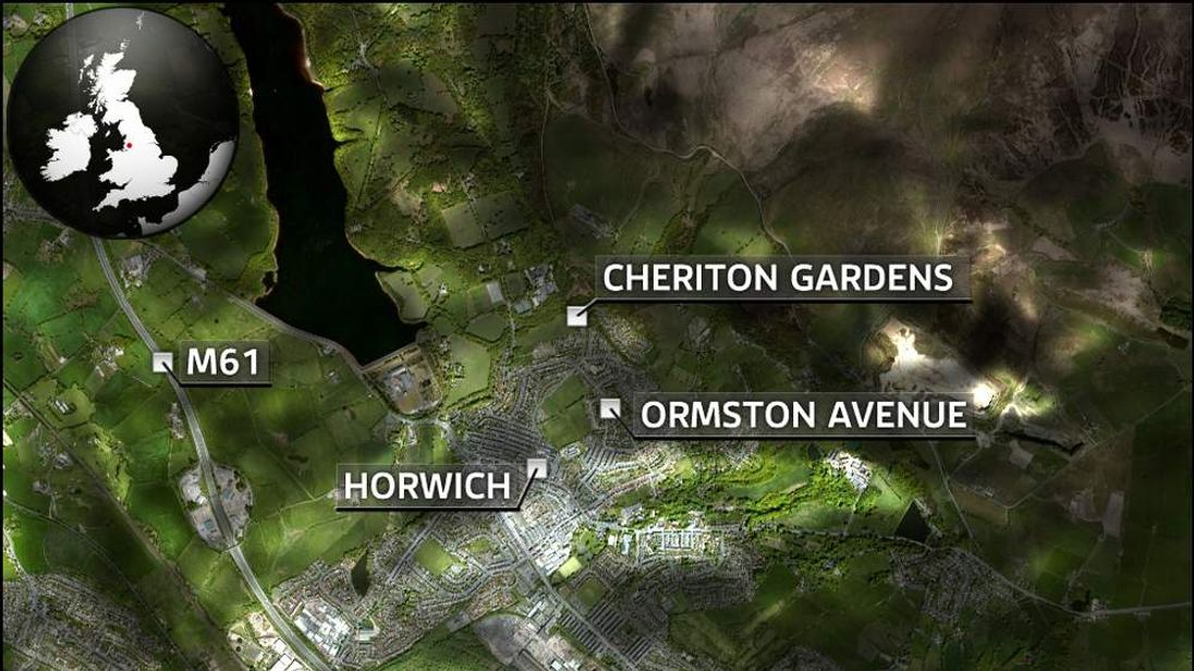 Map of Horwich