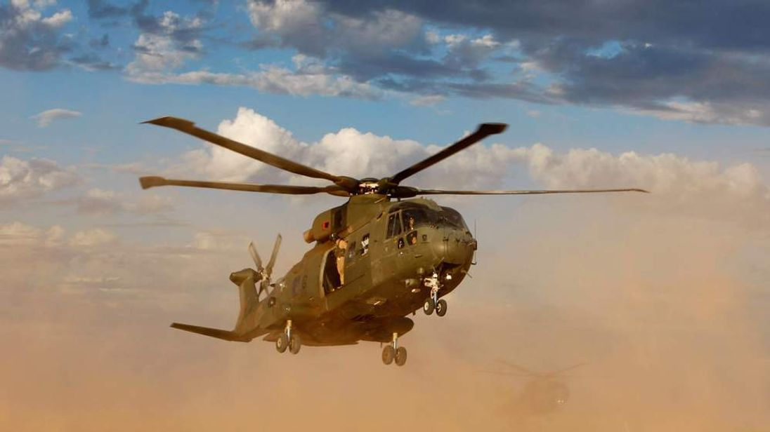 Merlin Helicopters on exercise