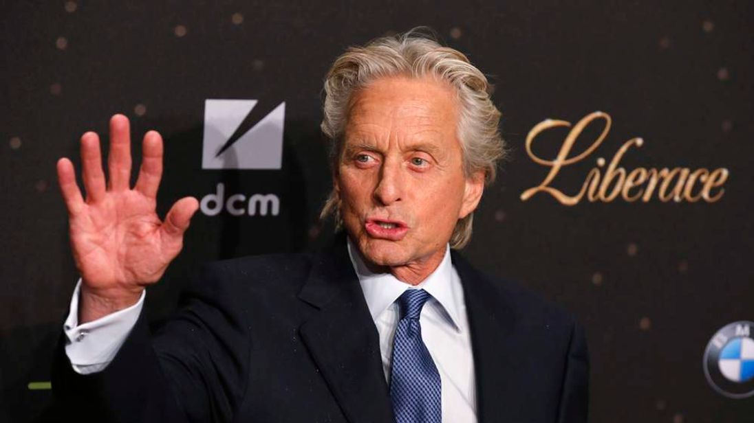 "Cast member Michael Douglas arrives for the screening of the film ""Behind the Candelabra"" in Berlin"