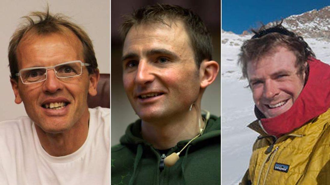 Simone Moro, Ueli Steck and Jonathan Griffith