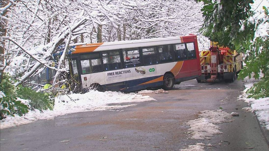 Caerphilly bus crash