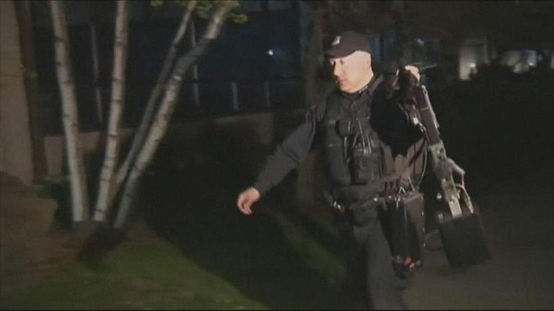 Boston marathon explosions Police search apartment block