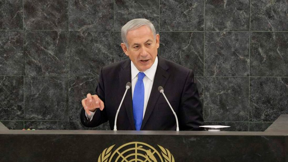 Israeli Prime Minister Benjamin Netanyahu addresses the 68th Session of the United Nations General Assembly at the UN headquarters in New York