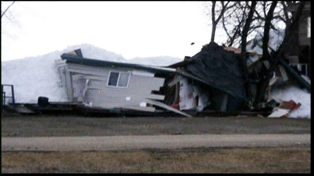 Homes Destroyed By Wall Of Ice, Canada