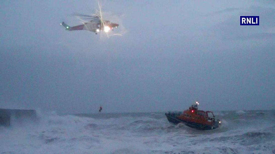 UK storm Newhaven