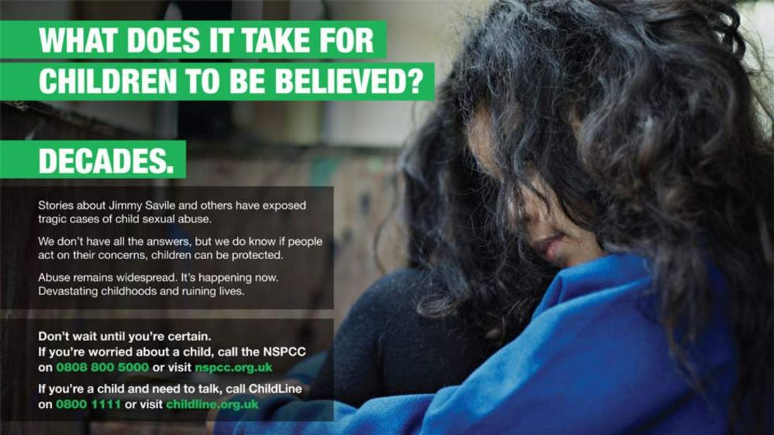 NSPCC Launches Child Sex Abuse Campaign