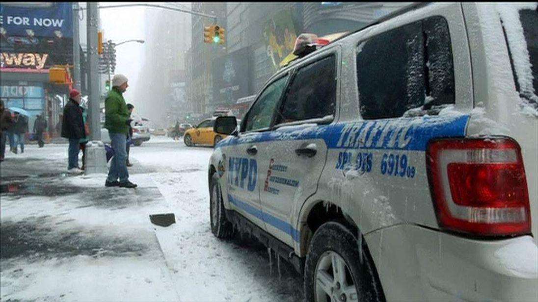 Winter blast hits New York