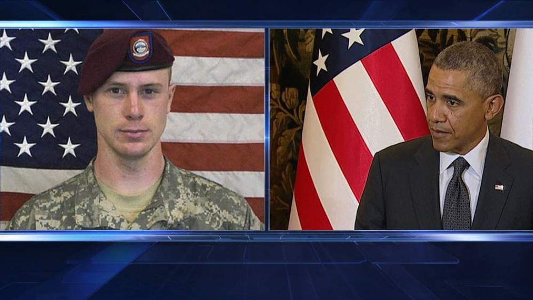 Sgt Bowe Bergdahl and President Barack Obama