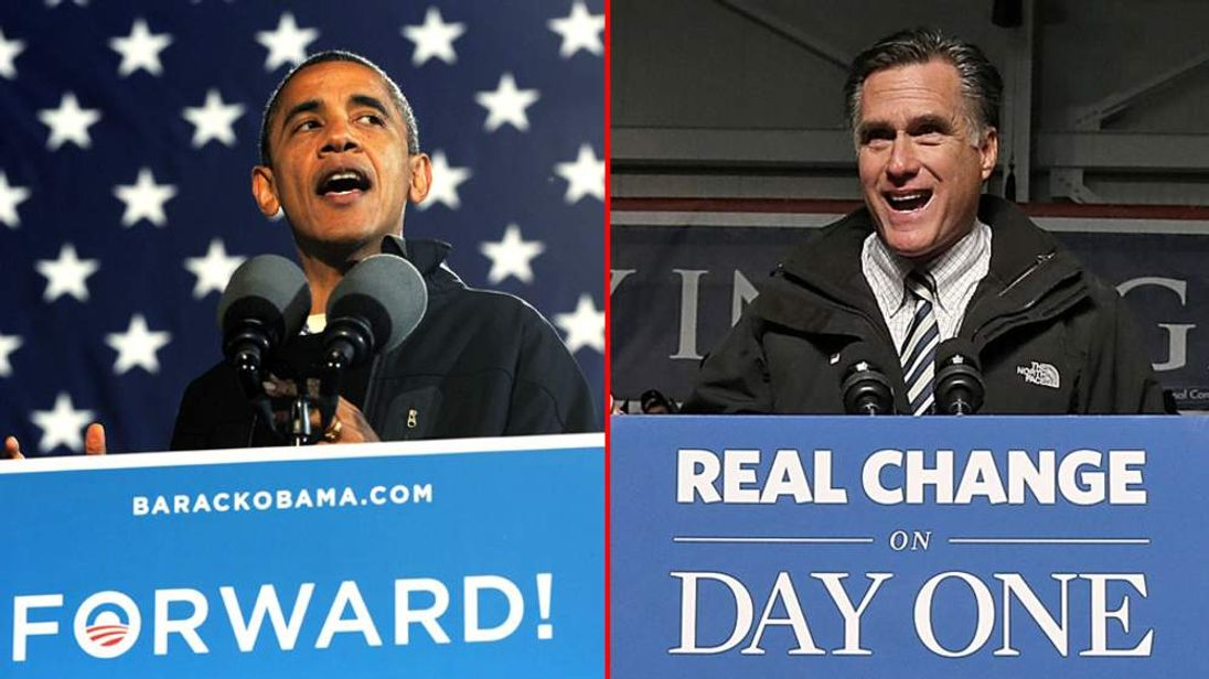 US President Barack Obama and Mitt romney