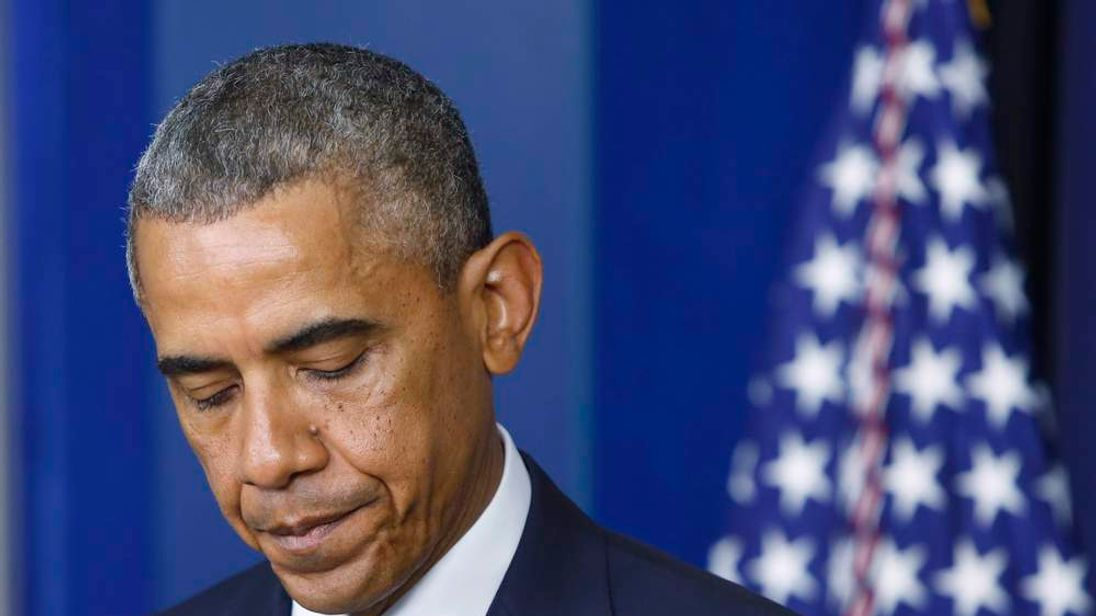 US President Obama at White House news conference