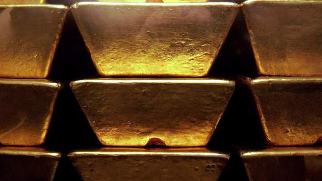 Gold bars.