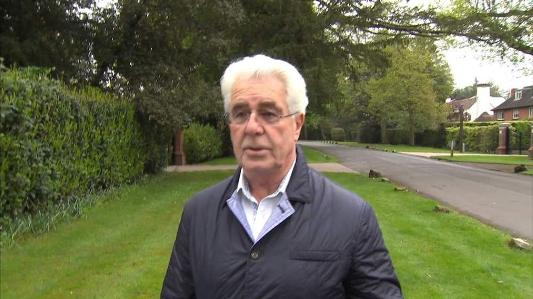 Max Clifford talks to Sky News outside his house