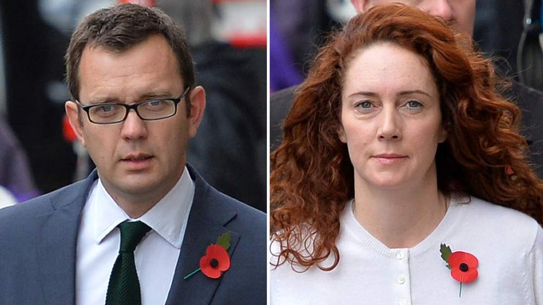 Andy Coulson and Rebekah Brooks arrive at the Old Bailey