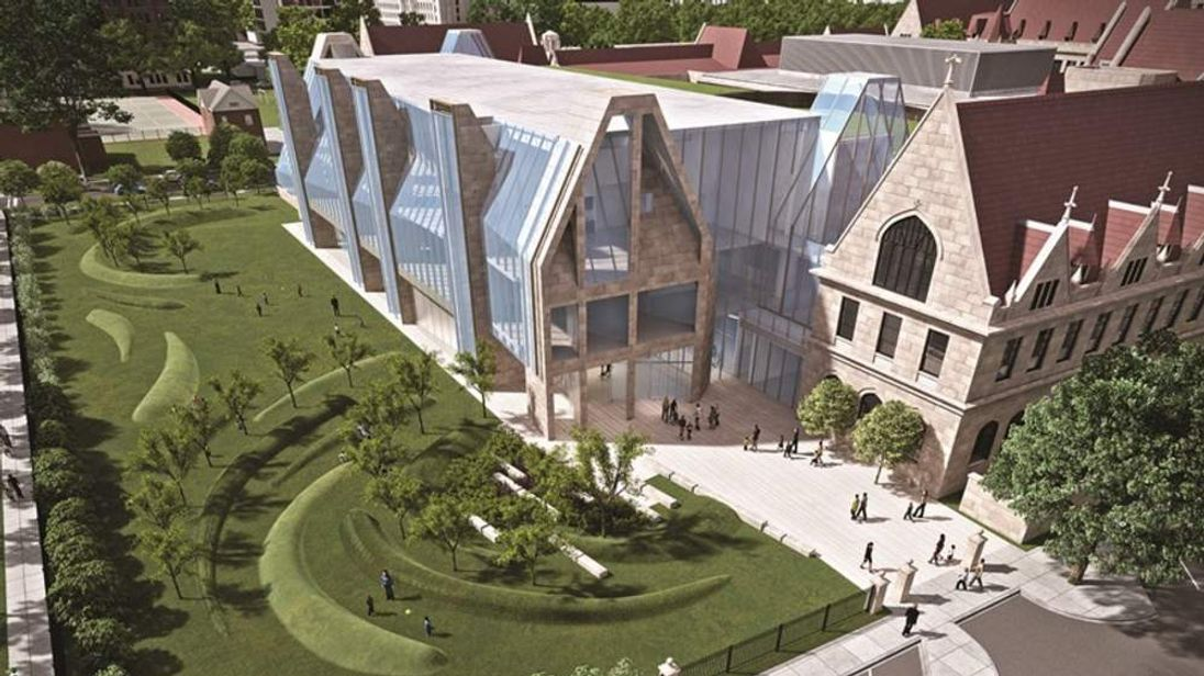 Artist rendering of new facility on University of Chicago campus due in part to $25m donation by George Lucas