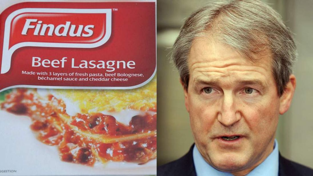 Owen Paterson and a Findus beef lasagne
