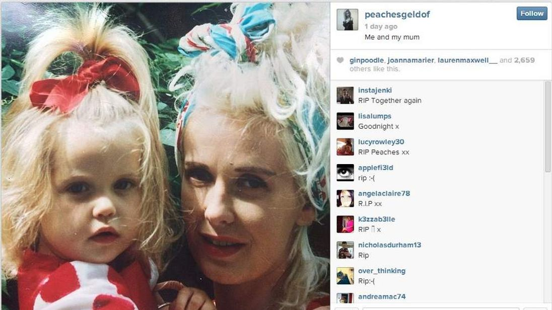 Peaches Geldof's last tweet