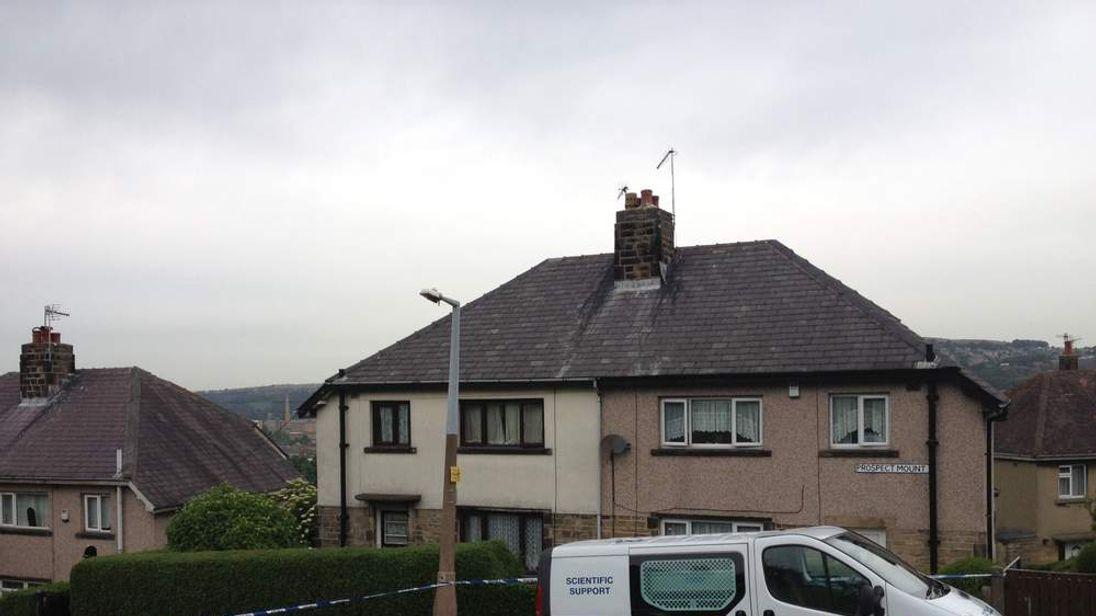 House in Shipley where elderly woman Louisa Denby found murdered