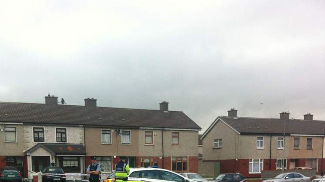 The scene of a shooting in the Ballyfermot area of Dublin.