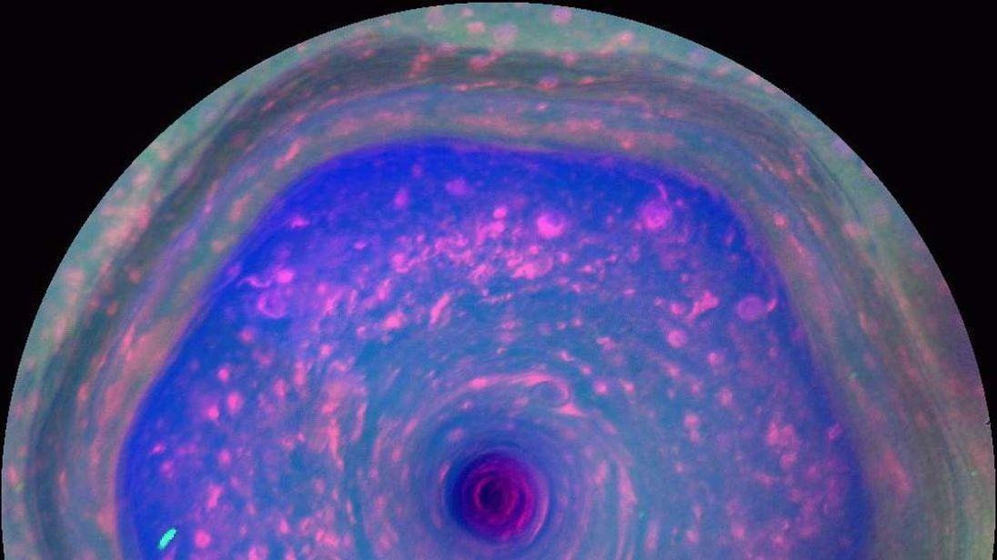 Saturn's 'hexagon' storm, as seen by Cassini. Pic: NASA/JPL-Caltech/SSI/Hampton University