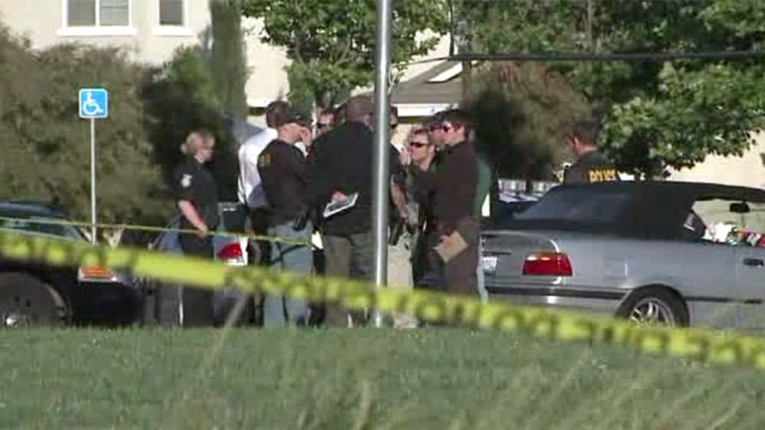 Police at the scene after shooting at playground in Sacramento