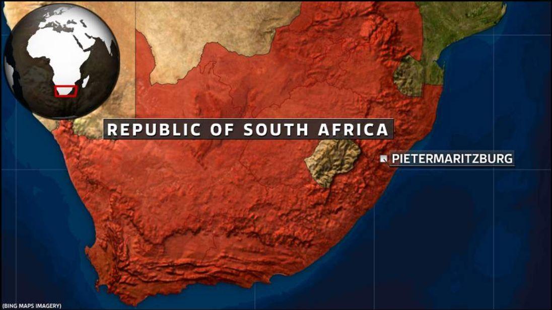 A map of Pietermaritzburg