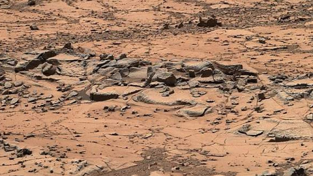 'pink cliffs' being examined by Nasa's Curiosity rover for clues to how Mars was formed