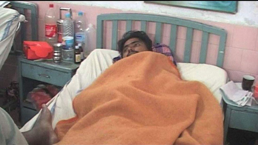 Poisoned donkey cart owner Mohammad Goga in hospital
