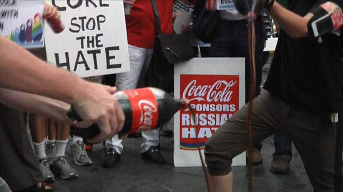 Coke protests
