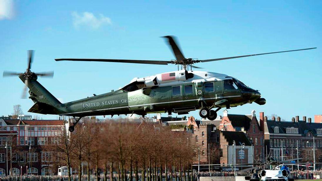 President Obama arrives in Amsterdam on Monday