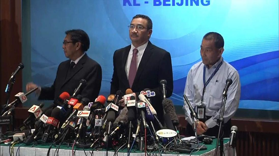 Missing plane press conference