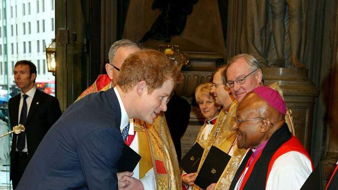 Prince Harry and Archbishop Desmond Tutu